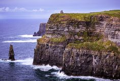 Cliffs of Moher, Clare, Ireland. Scenic view of cliffs of moher Co. Clare Ireland Royalty Free Stock Image