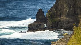Cliffs of Moher. Where the sea meet rocks - Ireland Stock Photo