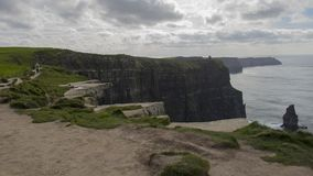 Cliffs of Moher. Where the sea meet rocks - Ireland Royalty Free Stock Photo