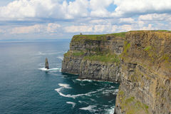 Cliffs of Moher with cloudy seascape Royalty Free Stock Photos