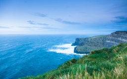 Cliffs of Moher in Co. Clare, Ireland Europe. Famous cliffs of Moher in Co. Clare Ireland Europe. Beautiful landscape natural attraction Stock Photo