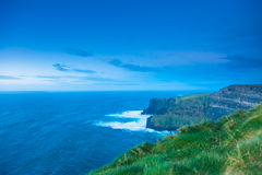 Cliffs of Moher in Co. Clare, Ireland Europe. Famous cliffs of Moher in Co. Clare Ireland Europe. Beautiful landscape natural attraction Stock Photography