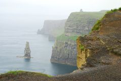 Cliffs of Moher. Co. Clare. Ireland. The Cliffs of Moher are located at the southwestern edge of the Burren region in County Clare, Ireland. They rise 120 metres Royalty Free Stock Images