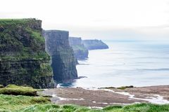 The Cliffs of Moher, Co. Clare, Ireland. On a rainy October day. On Nikon D5300 Royalty Free Stock Photos
