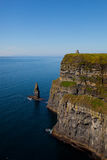 Cliffs of Moher in County Clare, Ireland. Cliffs of Moher with Blue Sky in County Clare, Ireland Royalty Free Stock Photos
