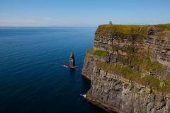 Cliffs of Moher in County Clare, Ireland. Cliffs of Moher with Blue Sky in County Clare, Ireland Stock Photos