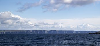 Cliffs of Moher in the Evening Sunlight from the Sea Royalty Free Stock Photo