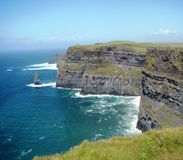 Breathtaking view from Cliffs of Moher stock photo