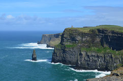 Cliffs of Moher in Ireland. Gorgeous towering Cliffs of Moher in County Clare, Ireland Royalty Free Stock Images