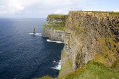 The Cliffs of Moher on Ireland royalty free stock image