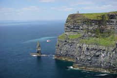 Cliffs of Moher in Ireland stock photography