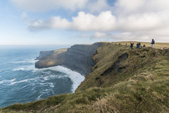 Cliffs of Moher - Ireland. The Cliffs of Moher are located at the southwestern edge of the Burren region in County Clare, Ireland Stock Images