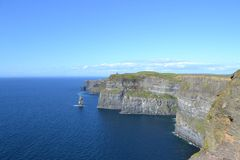 Cliffs of Moher. Ireland. Looking toward Ryan's Tower Stock Photos