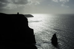 Cliffs of Moher, Ireland. A south facing view of the Cliffs of Moher approaching sunset Royalty Free Stock Photo