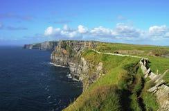 Cliffs of Moher - landmark. Cliffs of Moher - highest cliffs in Europe Stock Photo