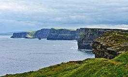 Cliffs of Moher looking north from Moher Tower Hags Head point Stock Photos