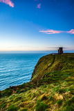 Cliffs of Moher - O Briens Tower in Co. Clare Ireland. Royalty Free Stock Images
