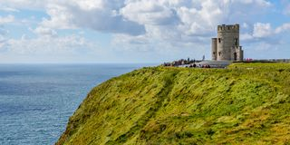 O`Brien`s Tower in Cliffs of Moher, County Clare, Ireland Royalty Free Stock Photography