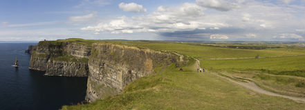 Cliffs Moher. Cliffs of Moher Panorama - Ireland Royalty Free Stock Photos