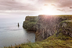 Cliffs of Moher. Scenic sunset over the Cliffs of Moher, Co. Munster, Ireland Stock Images