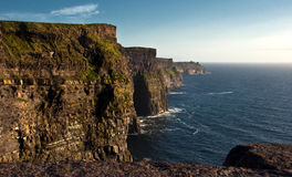 Cliffs of moher,sunet capture,west of ireland Stock Photography