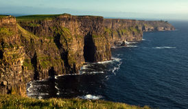 Cliffs of moher,sunet,west of ireland Royalty Free Stock Photography