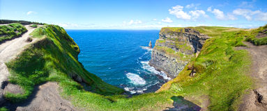 Cliffs Of Moher in a Sunny Day Royalty Free Stock Photography