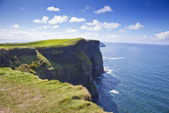 Cliffs Of Moher in a Sunny Day Royalty Free Stock Photos