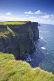 Cliffs Of Moher in a Sunny Day Stock Image