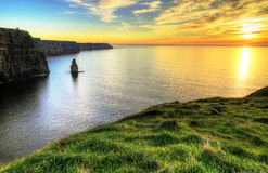 Cliffs of Moher at sunset. Ireland Royalty Free Stock Photos