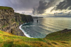 Cliffs of Moher at sunset. Co. Clare, Ireland Royalty Free Stock Images