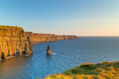 Cliffs of Moher at sunset Royalty Free Stock Images