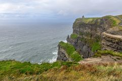 Cliffs of Moher at sunset in Co. Clare, Ireland Royalty Free Stock Image