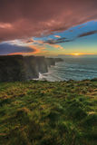 Cliffs of Moher at sunset in Co. Clare Ireland. Europe. Beautiful landscape Stock Images