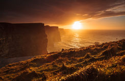Cliffs of Moher at sunset in Co. Clare, Ireland Europe Royalty Free Stock Images