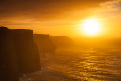 Cliffs of Moher at sunset in Co. Clare Ireland Europe. Stock Images