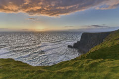 Cliffs of Moher at sunset, Co. Clare, Ireland Stock Photography