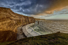 Cliffs of Moher at sunset, Co. Clare, Ireland Royalty Free Stock Photos