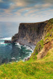 Cliffs of Moher at sunset in Ireland Stock Image