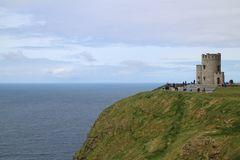 Cliffs of Moher, tower Stock Images