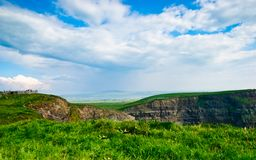 Cliffs of Moher  under blue sky , Ireland Stock Photography