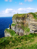 Cliffs of Moher. View aound the cliffs of moher on the coast at the Burren Royalty Free Stock Images