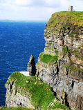 Cliffs of Moher 2. View aound the cliffs of moher on the coast at the Burren Stock Photo
