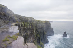 Cliffs of Moher. View of Cliffs of Moher from Ireland Stock Photography