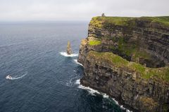 Cliffs of Moher viewpoint royalty free stock photography
