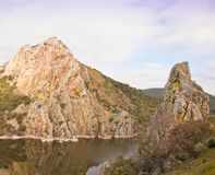 The cliffs of Monfragüe Royalty Free Stock Photos