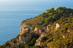 The cliffs of Monte Argentario in Tuscany Royalty Free Stock Photography