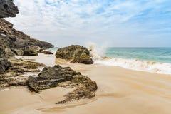 Cliffs Morro de Areia Boa επιφύλαξης φύσης Vista στοκ φωτογραφία