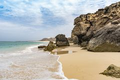 Cliffs Morro de Areia Boa επιφύλαξης φύσης Vista στοκ φωτογραφία με δικαίωμα ελεύθερης χρήσης