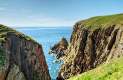 Cliffs on the Mull of Galloway Royalty Free Stock Photo